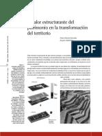 El Valor Estructurante Del Patrimonio en La Trans for Mac Ion Del Territorio