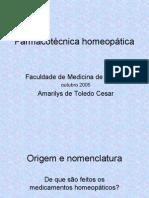 Farmacotécnica homeopática