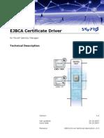 EJBCA Driver Technical Description v1.0