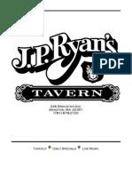 JP Ryans Menu