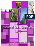 Analisis Incremental Capital Output Ratio (Icor) Kota Semarang 2010