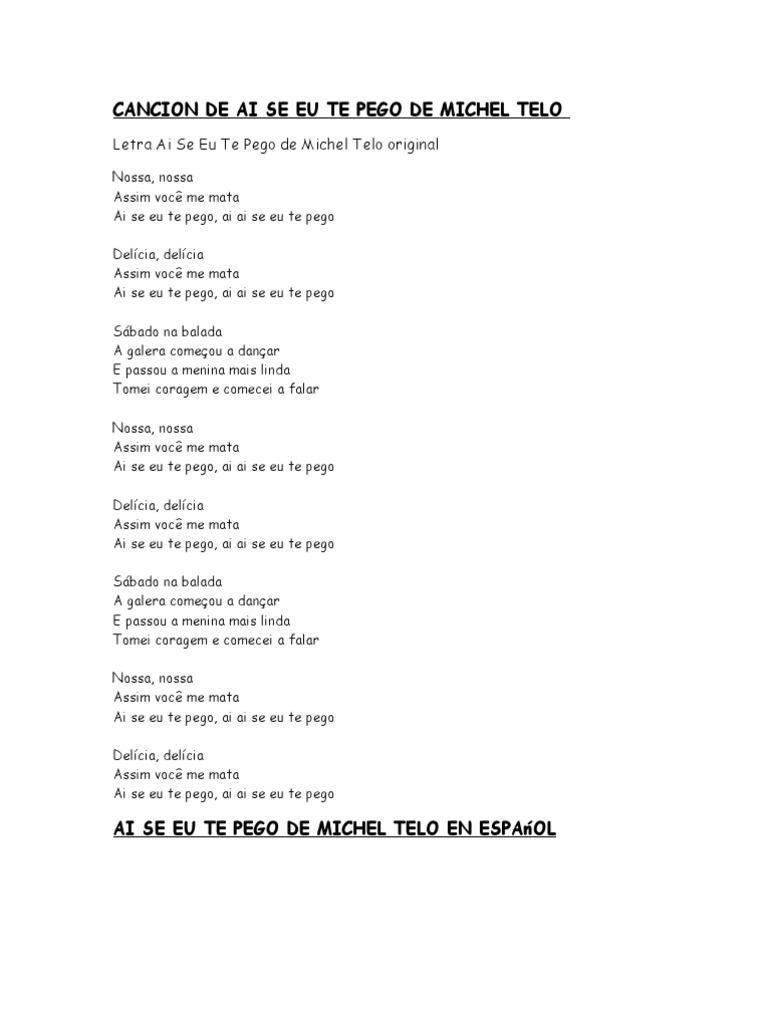 Letra Ai Se Eu Te Pego De Michel Telo Original