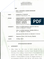 Ombudsman Investigation Report on CJ Corona as submitted to the House of Representatives