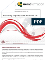 Curso universitario de especialización en marketing digital y comunicación 2.0
