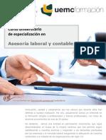 Curso universitario de especialización en Asesoría laboral y contable