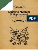 Creatures Mundane & Supernatural