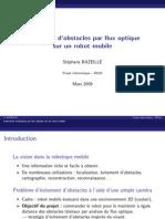 Slides_Evitement d'Obstacles Pour Flux Optique