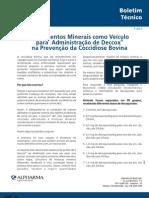 Suplementos Minerais Como Veiculo Para Administracao de Deccox Na Prevencao Da Coccidiose Bovina