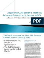 CDMS' T&R Forecast and R2020 Alternative--FINAL DRAFT