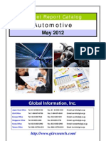 GiiResearch.com Automotive Market Report Catalog - May 2012