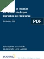 Analisis de La Realidad en Materia de Droga de La Republica de Nicaragua