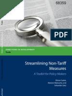 Streamlining Non Tariff Measures
