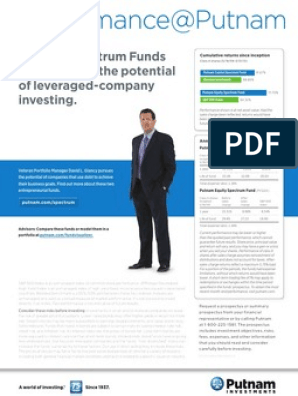 Putnam investments spectrum funds selected investment funds isabel