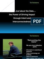 It_s Not Just About the Data______the Power of Driving Impact Through Intent and Interconnectedness Presentation