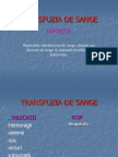 TRANSFUZIA DE SANGE