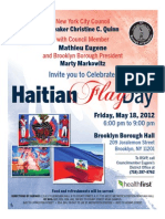 Haitian Flag Day Flyer