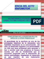 Secuencia Del Acto Grafomotor