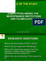 Competition Among the Micro Finance Institutions and Its Implications in Guntur District of Andhra Pradesh