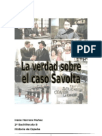 """Trabajo novela """"La verdad sobre el caso Savolta"""". Por Irene Herrero."""