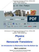 Physics of Nanoscale Transistors - an Introduction to Electronics From the Bottom Up