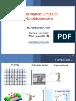 Geometry of Diffusion and the Performance Limits of Nano Bio Sensors