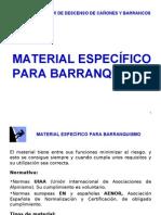 Material específico en el barranquismo