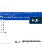 Polling results from PEFA - session 8.Community of PEFA Practioners