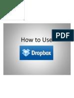 Dalisay Montoya - How to Use Dropbox