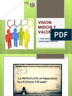 Ppt Vision, Mision y Valores
