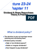 Dividend Policy and Share Repurchase
