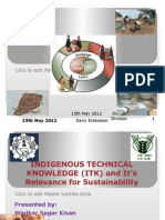 ITK and its relevance for sustainability