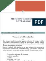 Métodos y Sistemas de Trabajo I -MOST