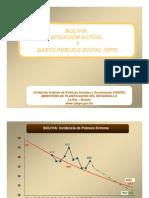 Bolivia Situación actual y gasto público social