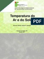 Agua, irrigação e evapotranspiração