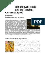 Blaring Simbang Gabi Sound Speakers and the Flagging Christmas Spirit
