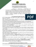 Prefeitura de Porto Velho Ro 2009 Edital
