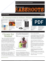 Malcom X Grass Roots Movement 2012 Spring Newsletter