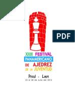 XXIII Festival Panamericano de Ajedrez de La Juventud  - Lima, PERÚ 2012