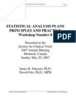 Statistical Analysis Plan
