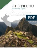Le Machu Picchu Version luxe