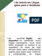 Dicas de Leitura em Língua Estrangeira para o