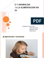 Problemas y anomalías asociadas a la alimentación en