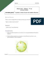 Actividade Pr%E1tica Modelo Do Atomo