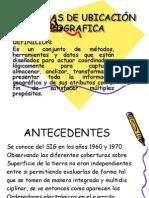 SISTEMAS DE UBICACIÓN GEOGRAFICA