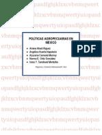 POLITICAS AGROPECUARIAS