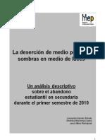 Desercion de Medio Periodo - Analisis Descriptivo Costa Rica