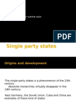 Single Party States What You Need to Know