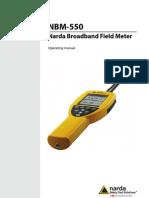 Narda NBM-550 Manual Equipo Medidor de RNI
