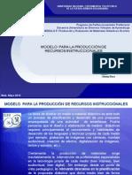 Modelo de Produccion de Recursos Instruccionales