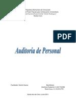Auditoría de personal